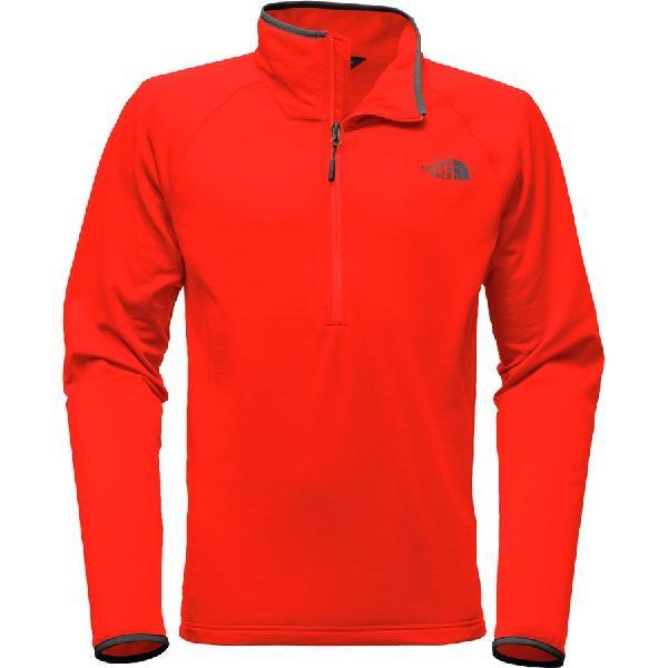 (取寄)ノースフェイス メンズ ボアード 1/4-Zip フリース ジャケット The North Face Men's Borod 1/4-Zip Fleece Jacket Centennial Red