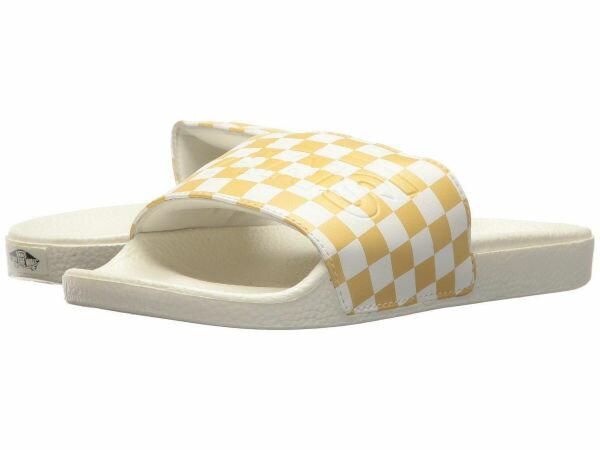 (取寄)Vans(バンズ) スニーカー スライド レディース Vans Women Slide (Checkerboard) Pineapple Slice