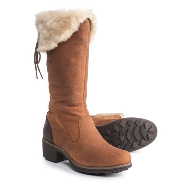 (取寄)メレル レディース シャトー トール ジップ ポーラー ブーツ Merrell Women Chateau Tall Zip Polar Boots Merrell Oak