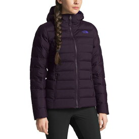 (取寄)ノースフェイス レディース ストレッチ ダウン フーデッド ジャケット The North Face Women Stretch Down Hooded Jacket Galaxy Purple