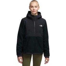 (取寄)ノースフェイス レディース デナリ 2 フーデッド フリース ジャケット The North Face Women Denali 2 Hooded Fleece Jacket Tnf Black/Tnf White Logo