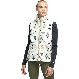 (取寄)ノースフェイス レディース Campshire 2.0フリース ベスト The North Face Women Campshire 2.0 Fleece Vest Vintage White California Geo Print