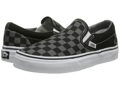 (取寄)バンズ メンズ クラシック スリップ Vans Men's Classic Slip (Checkerboard) Black/Pewter