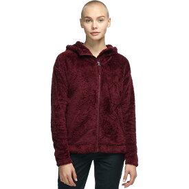 (取寄)ノースフェイス レディース ファーリー フリース フーデッド ジャケット The North Face Women Furry Fleece Hooded Jacket Deep Garnet Red