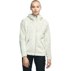 (取寄)ノースフェイス レディース ファーリー フリース フーデッド ジャケット The North Face Women Furry Fleece Hooded Jacket Vintage White/Dove Grey