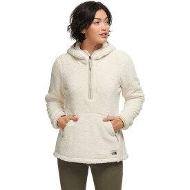 (取寄)ノースフェイス レディース Campshire 2.0フーデッド プルオーバー フリース ジャケット The North Face Women Campshire 2.0 Hooded Pullover Fleece Jacket Vintage White/Dove Grey