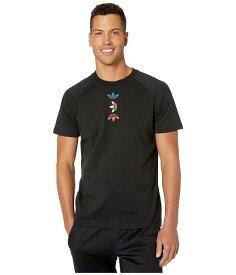 (取寄)アディダス オリジナルス メンズ メタリック ティー Tシャツ adidas originals Men's Metallic Tee Black/Lush Blue