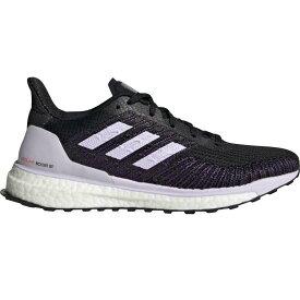 (取寄)アディダス レディース ソーラー ブースト St 19 ランニング シューズ Adidas Women Solar Boost ST 19 Running Shoe Running Shoes Core Black/Purple Tint/Solar Red