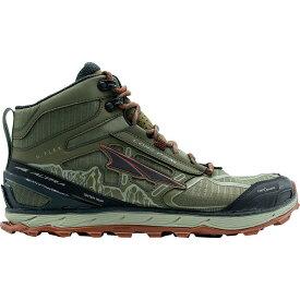 (取寄)アルトラ メンズ ローン ピーク 4ミッド メッシュ トレイル ランニング シューズ Altra Men's Lone Peak 4 Mid Mesh Trail Running Shoe Running Shoes Ivy Green/Red Clay
