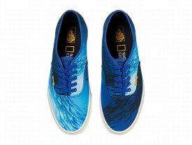 (取寄)Vans(バンズ) スニーカー X ナショナル ジオグラフィック コラボ ユニセックス メンズ レディース シューズ Vans Unisex x National Geographic Collab Shoes (National Geographic) Ocean/True Blue (Authentic)