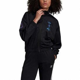 (取寄)アディダス オリジナルス レディース アディダス オリジナル ラージ ロゴ トラック ジャケット adidas originals Women adidas Originals Large Logo Track Jacket Black/Royal Blue