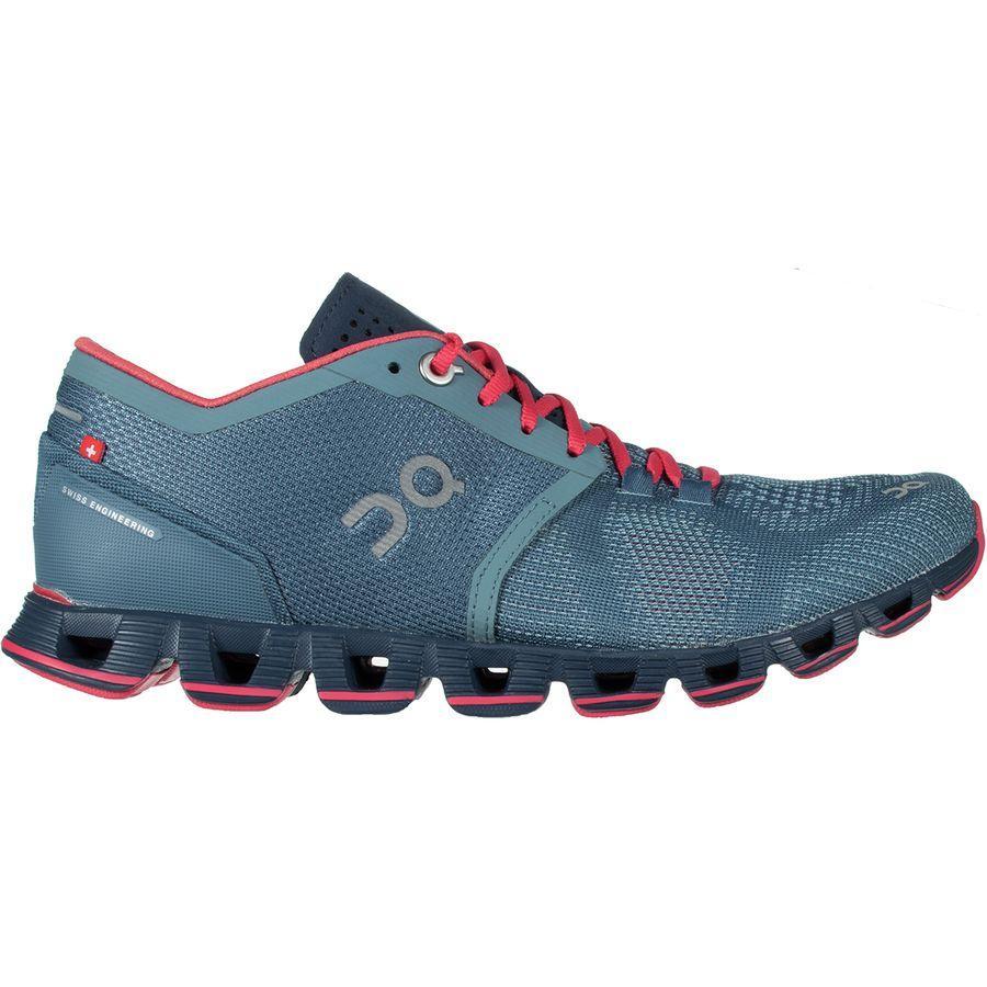 (取寄)オン フットウェアー レディース クラウド X ランニングシューズ On Footwear Women Cloud X Running Shoe Lake/Coral