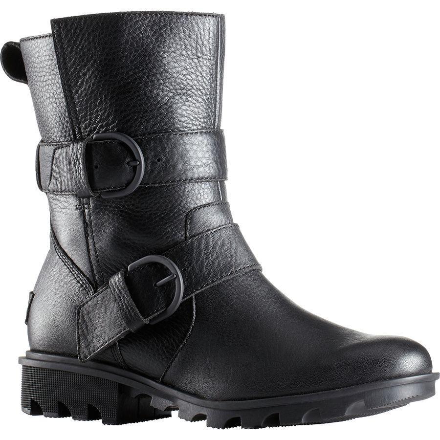 【クーポンで最大2000円OFF】(取寄)ソレル レディース フェニックス モト ブーツ Sorel Women Phoenix Moto Boot Black