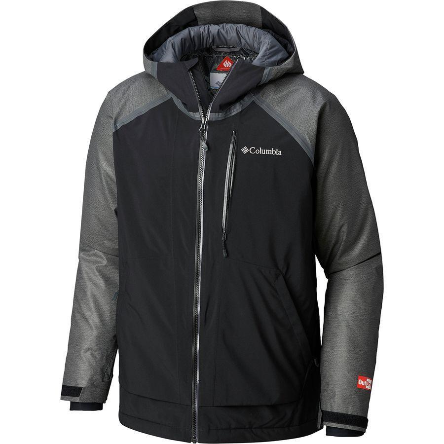 (取寄)コロンビア メンズ アウトドライ グレイシャル ハイブリッド ジャケット Columbia Men's Outdry Glacial Hybrid Jacket Charcoal Heather/Black