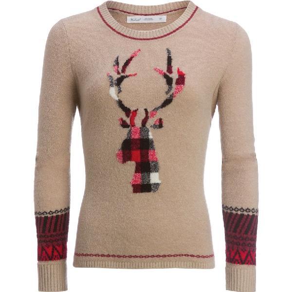 (取寄)ウールリッチ レディース モチーフ モヘア クルー セーター Woolrich Women Motif Mohair Crew Sweater Burlap