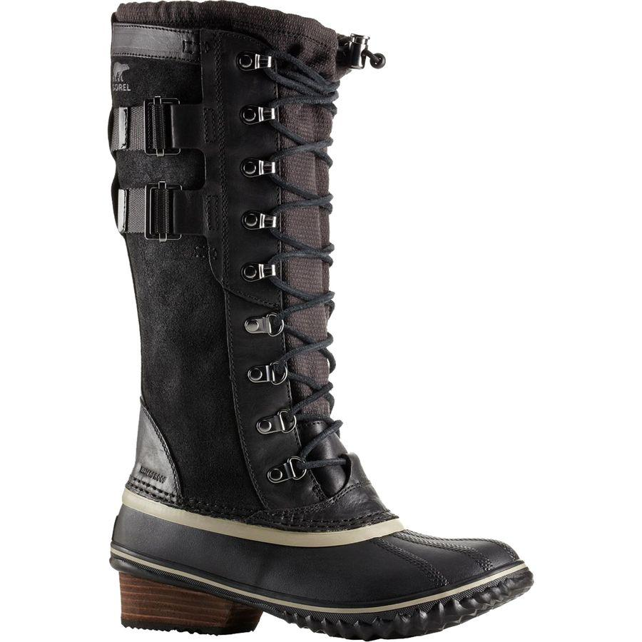 【クーポンで最大2000円OFF】(取寄)ソレル レディース コンクエスト カーリー 2 ブーツ Sorel Women Conquest Carly II Boot Black/Silver Sage