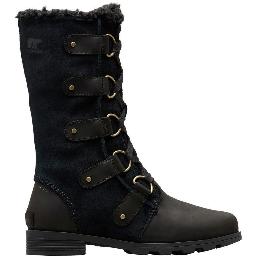 【クーポンで最大2000円OFF】(取寄)ソレル レディース エミリー レース ブーツ Sorel Women Emelie Lace Boot Black