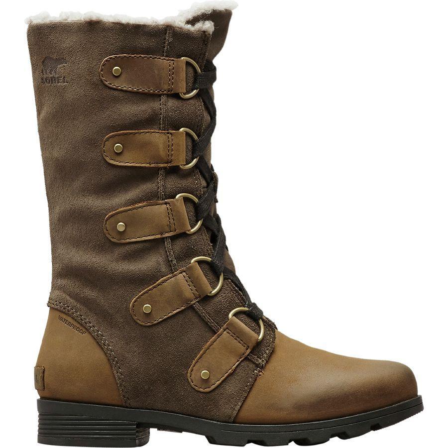 【クーポンで最大2000円OFF】(取寄)ソレル レディース エミリー レース ブーツ Sorel Women Emelie Lace Boot Major/Black