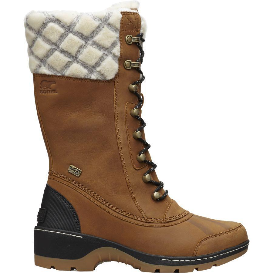 【クーポンで最大2000円OFF】(取寄)ソレル レディース ウィスラー トール ブーツ Sorel Women Whistler Tall Boot Camel Brown/Black