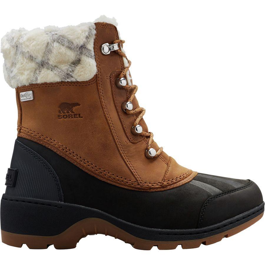 【クーポンで最大2000円OFF】(取寄)ソレル レディース ウィスラー ミッド ブーツ Sorel Women Whistler Mid Boot Camel Brown/Black