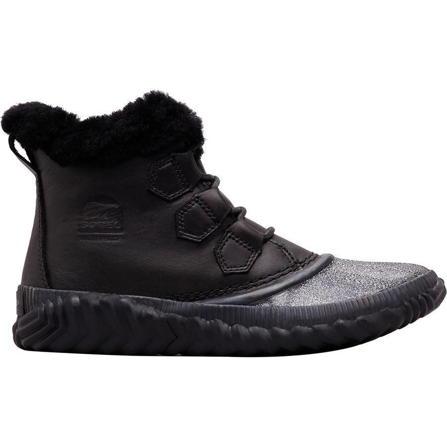 【クーポンで最大2000円OFF】(取寄)ソレル レディース アウト Nアバウト プラス ラックス ブーツ Sorel Women Out N About Plus Lux Boot Black