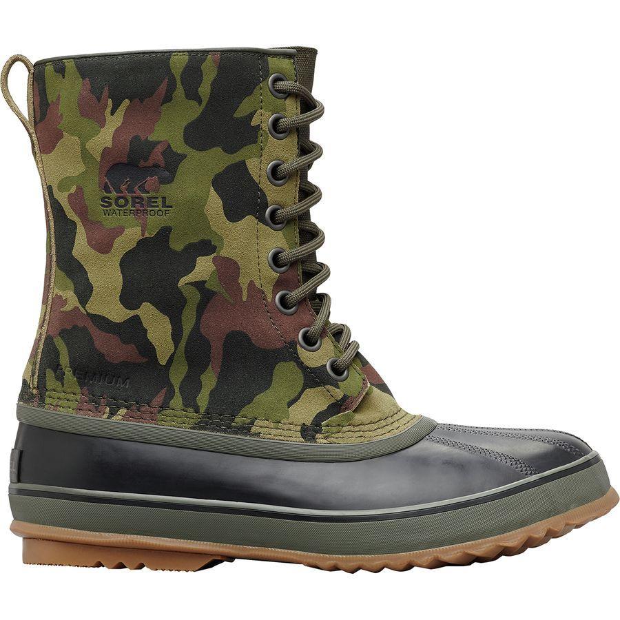 【クーポンで最大2000円OFF】(取寄)ソレル メンズ 1964プレミアム ティ カモ ブーツ Tシャツ Sorel Men's 1964 PremiumCamo Boot T Alpine Tundra/Black