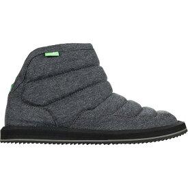 (取寄)サヌーク レディース パフ Nチル フリース ブーツ Sanuk Women Puff N Chill Fleece Boot Charcoal Fleece