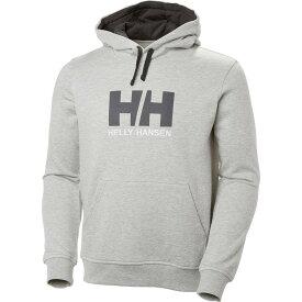 (取寄)ヘリーハンセン メンズ ロゴ プルオーバー パーカー Helly Hansen Men's Logo Hoodie Pullover Grey Melange