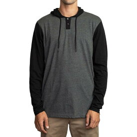 【クーポンで最大2000円OFF】(取寄)ルーカ メンズ ピック アップ パーカー RVCA Men's Pick Up Hoodie Grey Black