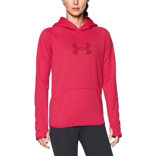 (取寄)アンダーアーマー レディース ストーム UA ロゴ プルオーバー パーカー Under Armour Women Storm UA Logo Hoodie Pullover Knockout/Knockout