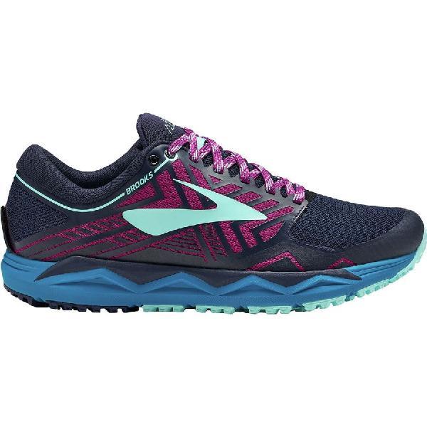 (取寄)ブルックス レディース カルデラ 2 トレイル ランニングシューズ Brooks Women Caldera 2 Trail Running Shoe Navy-Plum-Ice Blue