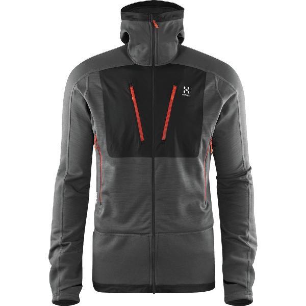 (取寄)ホグロフス メンズ セラック フーデッド フリース ジャケット Haglofs Men's Serac Hooded Fleece Jacket Magnetite