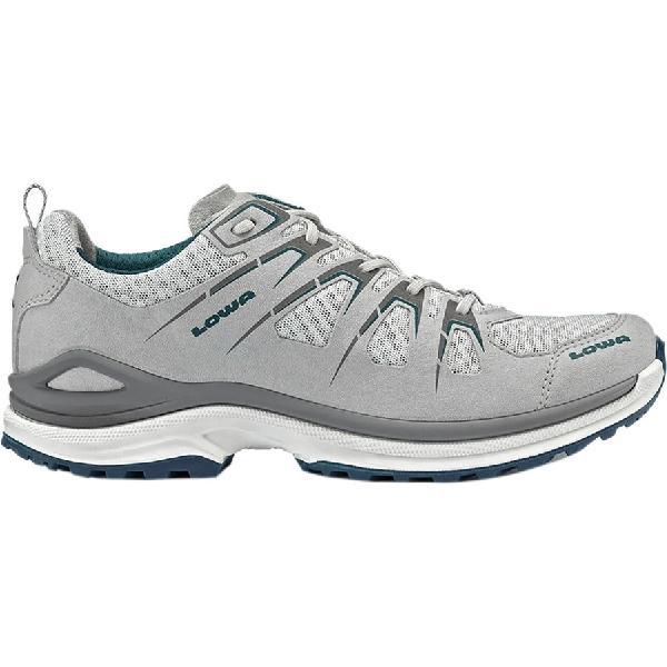 (取寄)ローバー レディース イノックス エボ ロー ハイキングシューズ Lowa Women Innox Evo Lo Hiking Shoe Light Grey/Petrol 【コンビニ受取対応商品】