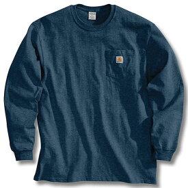 (取寄)カーハート メンズ ワークウェア ポケット ロング スリーブ Tシャツ Carhartt Men's Workwear Pocket Long Sleeve T-Shirt Navy