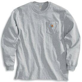 (取寄)カーハート メンズ ワークウェア ポケット ロング スリーブ Tシャツ Carhartt Men's Workwear Pocket Long Sleeve T-Shirt Heather Grey