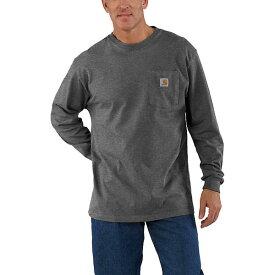 (取寄)カーハート メンズ ワークウェア ポケット ロング スリーブ Tシャツ Carhartt Men's Workwear Pocket Long Sleeve T-Shirt Carbon Heather