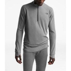 (取寄)ノースフェイス メンズ ウォーム ウール ブレンド LS ジップ ネック トップ The North Face Men's Warm Wool Blend LS Zip Neck Top TNF Medium Grey Heather 送料無料