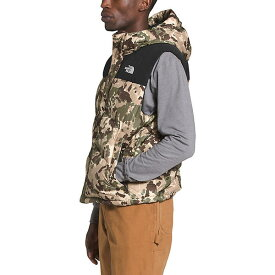 (取寄)ノースフェイス メンズ バラム ダウン ベスト The North Face Men's Balham Down Vest Burnt Olive Green Digi Topo Print