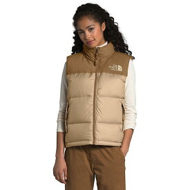 (取寄)ノースフェイス ダウンベスト レディース エコ ヌプシ ベスト The North Face Women's Eco Nuptse Vest Hawthorne Khaki / Utility Brown 送料無料