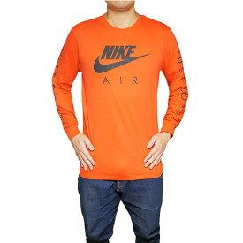 ナイキ メンズ 長袖Tシャツ グラフィック ロング スリーブ Tシャツ オレンジ Nike Men's Graphic Long Sleeve T-Shirt Orange Black