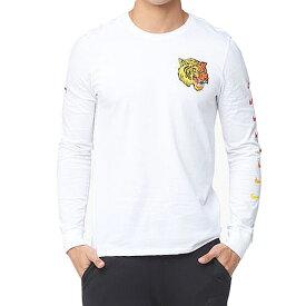 Nike ナイキ メンズ 長袖Tシャツ ホワイト エアマックス プラス チューン ロングスリーブ Tシャツ NIKE Men's Air Max Plus Tuned Long Sleeve T-shirt White Yellow Red