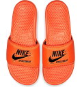 NIKE ナイキ ベナッシ サンダル JDI テキスト ネオンオレンジ Nike Benassi JDI Text SE Total Orange Black