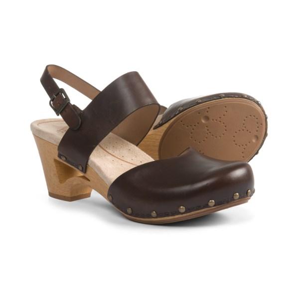 ダンスコ レディース シィア レザー クロッグ Dansko Womwn's Thea Pull-Up Clogs Teak Vintage Pull Up