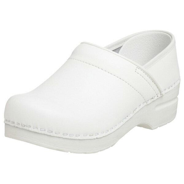 (取寄)ダンスコ プロフェッショナル レディース ボックスレザー クロッグ ホワイト dansko Professional Box Leather Clog White 【コンビニ受取対応商品】