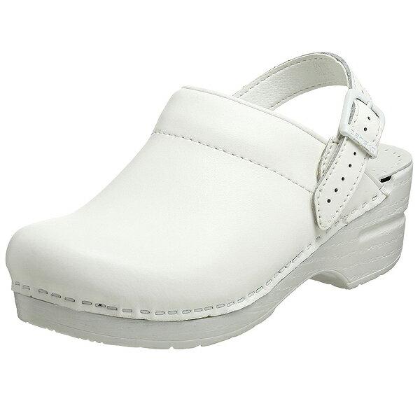 ダンスコ レディース イングリッド ボックス レザー クロッグ ホワイト dansko Ingrid Box Leather Clog White 【サボ サンダル コンフォートシューズ 大きいサイズ 靴】あす楽対応