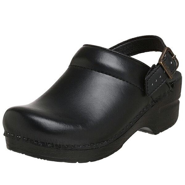 ダンスコ レディース イングリッド ボックス レザー クロッグ ブラック dansko Ingrid Box Leather Clog Black 【サボ サンダル コンフォートシューズ 大きいサイズ 靴】