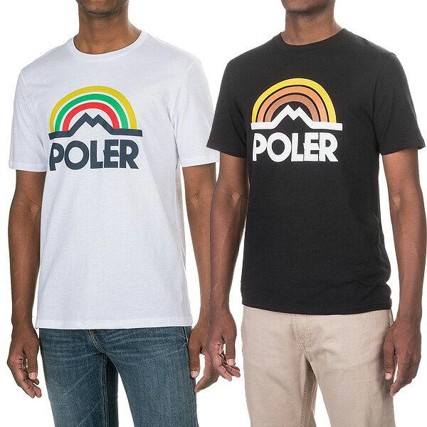 POLeR ポーラー メンズ Tシャツ マウンテン レインボー 半袖 Tシャツ Mountain Rainbow T-Shirt