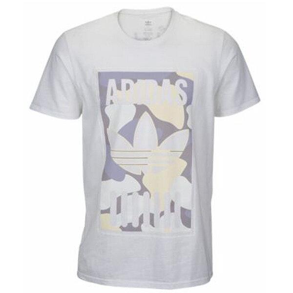 アディダス オリジナルス メンズ グラフィック Tシャツ ホワイト カモ adidas Orignals Men's Graphoc T-shirt White/Camo あす楽対応