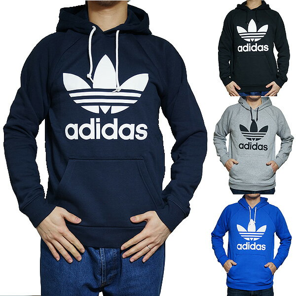 アディダス パーカー オリジナルス メンズ スウェットパーカー トレフォイル フーディ adidas Originals Men's Trefoil Logo Hoodie 【コンビニ受取対応商品】