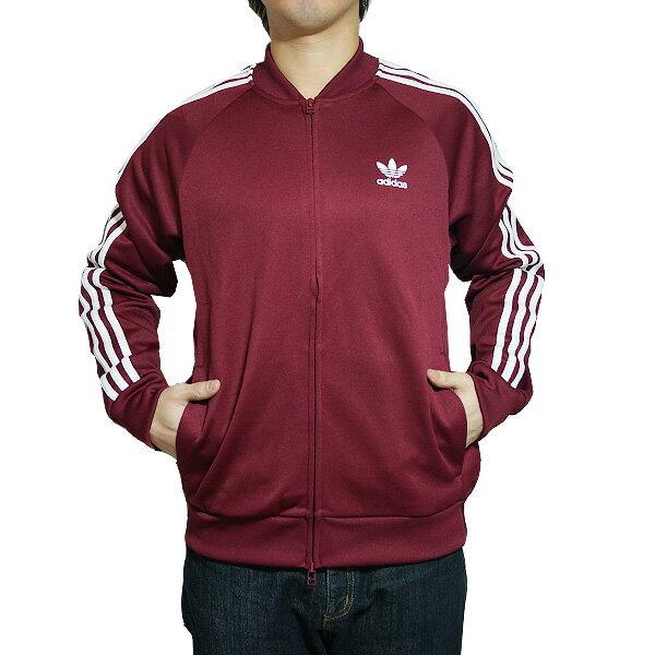 アディダス オリジナルス メンズ スーパースター リラックス トラック トップ カレッジエイト バーガンディ adidas originals Men's Superstar Relax Track Top Collegiate Burgundy
